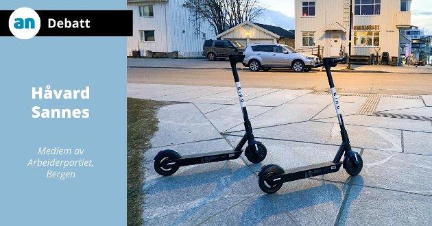 Disse elsparkesyklene er nå på plass i Bodø.