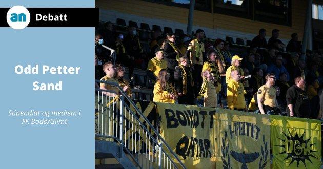 Klar melding fra Glimt-supporterne foran kampen mot Rosenborg: Boikott Qatar.