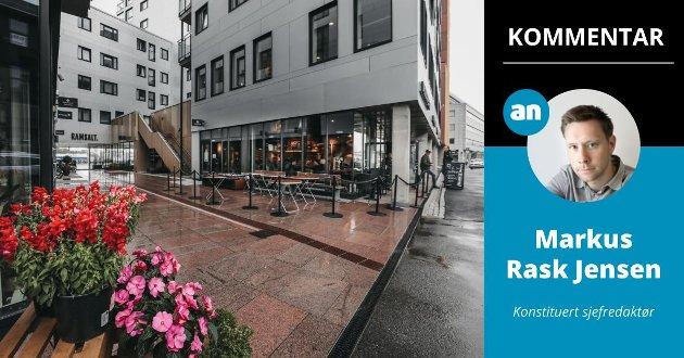 Kaipromenaden i Bodø, med tilhørende restauranter, er blitt et trekkplaster for en tidligere død del av byen, mener konstituert sjefredaktør Markus Rask Jensen.
