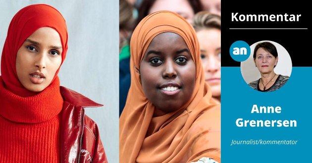 Hijabkledde damer, Rawdah Mohamed (t.v.) og Sumaya Jirde Ali, har fått ansvaret for to felt som er viktige for mange kvinner: mote og feminisme. Hvilken ironi!
