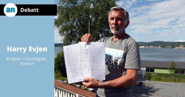 Harry Evjen har lenge engasjert seg mot blokk-planene på Finneid.