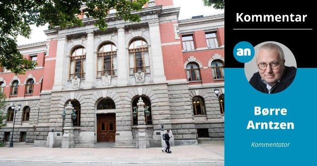 Fasaden på Norges Høyesterett i Oslo.