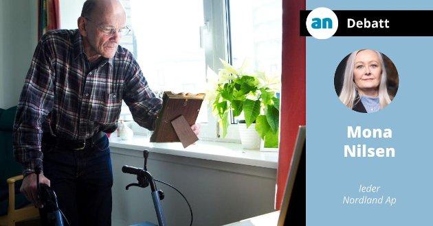 Som et ledd i økt satsing på eldreomsorgen skal Ap starte arbeidet med en bo-hjemme-reform for pleietrengende eldre,.