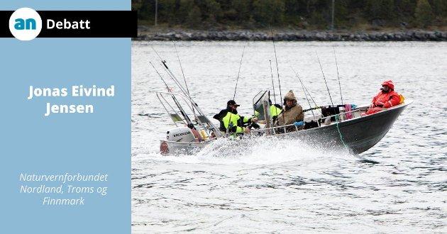 I Fleinvær har yrkesfiskere erfart at det nærmest er umulig å konkurrere med fisketuristene.  Bildet er tatt et annet sted.