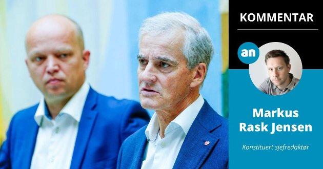 Hvem blir invitert inn i regjeringsvarmen av Trygve Slagsvold Vedum og Jonas Gahr Støre etter valget? Det er neimen ikke så lett å bli klok på, skriver konstituert sjefredaktør Markus Rask Jensen.