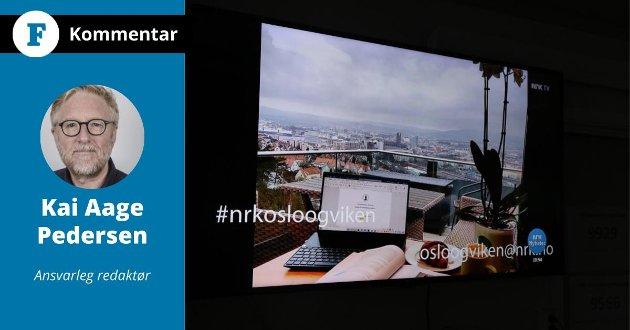 NRK har nyheiter frå Oslo, ikkje Vestlandet i Apple-TV. Det er ikkje godt nok, skriv ansvarleg redaktør i Firda, Kai Aage Pedersen, i denne kommentaren,