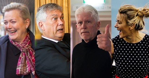 FOLK VI HUGSAR?: Frå venstre: Gründer Anne Mette Hjelle, Høyanger-ordførar Petter Sortland, Sunnfjord-politikar Ove Farsund og påverkar Ingeborg Sol Fure.