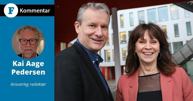 FÅR TUNNEL: Om 8-10 år kan vi på grunn av godt politisk handverk frå Jenny Følling (Sp) og Olve Grotle (H) seie farvel til bilbyen Førde, skriv Kai Aage Pedersen.