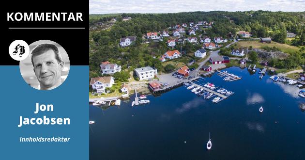 Idylliske Bølingshavn er blant stedene hvor det er reist tvil om det er Borg Havn eller Hvaler kommune som nå er rett part i forbindelse med et krav.