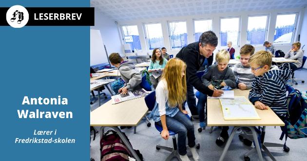 Bildet er fra Ambjørnrød skole fra før koronaen, og brukes kun for å illustrere en klasseromsituasjon. Arkivfoto: Erik Hagen