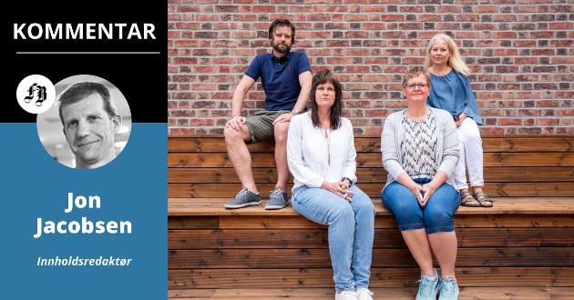 Anders Fjeld, Barbro Wærnes, Anne Eilen Temte og Anita Fjellheim ved Brukerombudets kontor roper et varsku om det digitale klasseskillet.