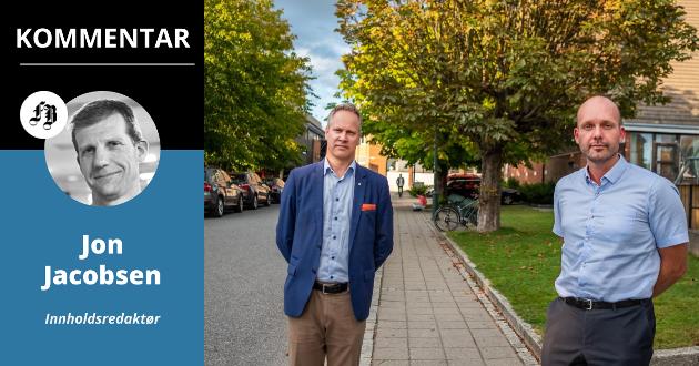Jon-Ivar Nygård og Sindre Martinsen-Evje styrer hver sin Arbeiderparti-kommune, men får sjelden til samarbeidet når det drar seg til med vanskelige saker.