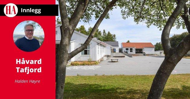INNSPARINGER: Håvard Tafjord i  Halden Høyre stiller spørsmålstegn ved om det er riktig å opprettholde Prestebakke skole når kommuneøkonomien er så stram som nå.