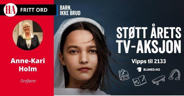 INNHOGG: Ordfører Anne-Kari Holm (Sp) støtter TV-aksjonen av hele sitt hjerte..
