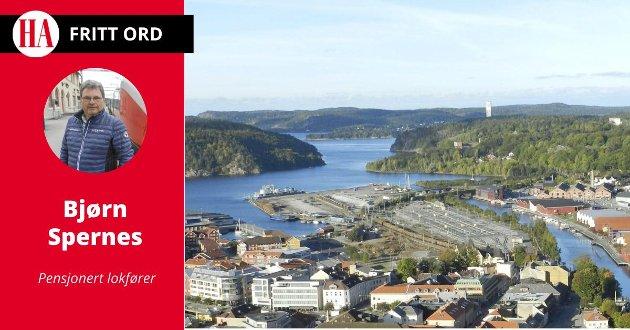 UTBYGGING:  Bjørn Spernes skriver om jernbaneutvikling i Halden.