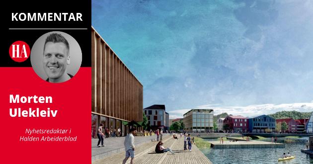 POSITIV: Nyhetsredaktør Morten Ulekleiv i Halden Arbeiderblad er svært positiv til planene om en helt ny bydel på Sydsiden av Halden sentrum.