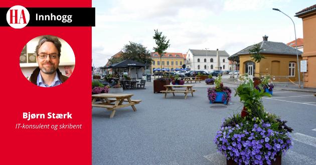 """""""Det finnes knapt et eneste byområde i verden som virkelig er bilfritt"""", skriver Bjørn Stærk."""