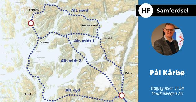 -  Regionen skyt seg sjølv i foten når ein ikkje tar konsekvensane av dei enorme fordelane for samfunnet som ligg i prosjektet «armen til Bergen», skriv Pål Kårbø..