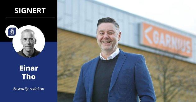 Stein Inge Svensen startet opp Garnius i 2016. Han mener det er viktig å ha en fysisk butikk i tilknytning til den gigantiske netthandelen, men møter motstand.