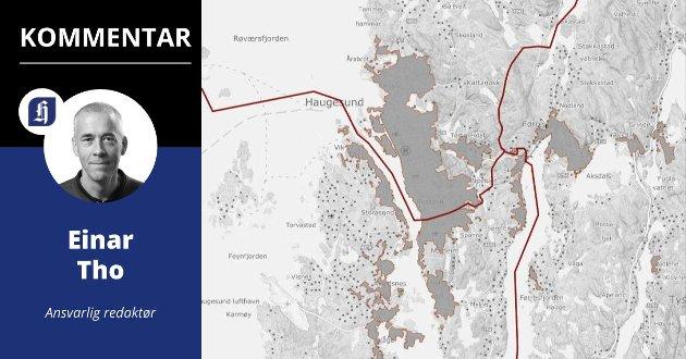 TETTSTEDET: Om husene ligger tett nok, er det samme tettsted ifølge SSB. Derfor regnes Norheim som en del av Haugesund by.