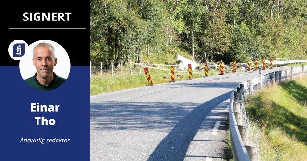 FARLIG: Her i Stordalen i Etne skjedde dødsulykken onsdag. Helge Viken Håkull (28) omkom da lastebilen han kjørte veltet.
