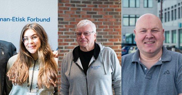 Andrine Løvvold Kristoffersen (t.v), Øystein Røsland (midten) og Jørn Jønsberg (t.h)