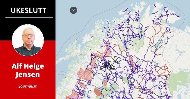 MANGLER: –Haken var at Finnmark har langt flere løyper enn det Strifeldts kart viste, skriver journalist Alf Helge Jensen i denne ukens ukeslutt.