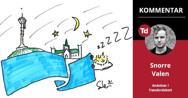 HØNEBLUND: – I Trondheim kan vi faktisk gå tjue nye år i møte uten høyrestyre. Det kan hende Høyre i Trondheim bare er midt i det som vil vise seg å bli en flere tiår lang høneblund, skriver Snorre Valen, redaktør i Trønderdebatt.