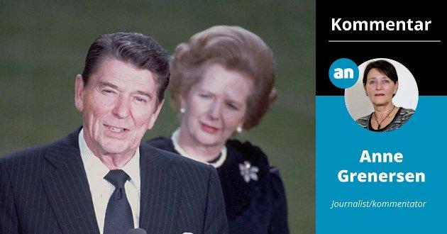 HINDRET KLIMAKATASTROFE: – Ronald Reagan og Margaret Thatcher fikk i 1990 hele verden med seg for å hindre en klimakatastrofe.  Hvem skal redde kloden nå? skriver Anne Grenersen.