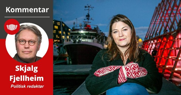 Arbeiderpartiets Cecile Myrseth (36) er blant favorittene til å bli fiskeriminister i en ny rødgrønn regjering. Foto: Torgrim Rath Olsen/Nordlys