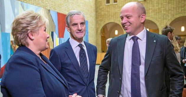 VINNER I BYEN: Trygve Slagvold Vedum og Senterpartiet er større enn både Erna Solberg (Høyre) og Jonas Gahr Støre (Arbeiderpartiet) i Tromsø