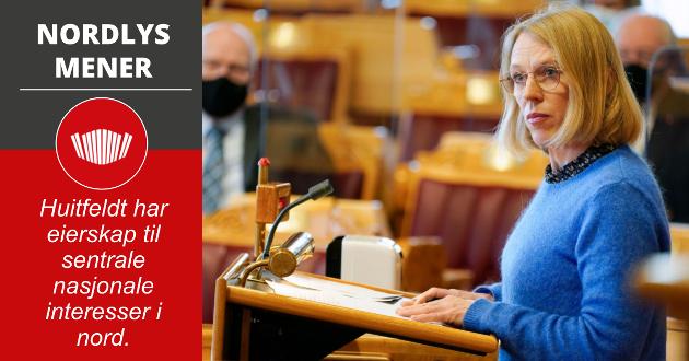 Anniken Huitfeldt har et tydelig og konstruktivt ståsted i nordområdepolitikken, hun er engasjert i Barentssamarbeidet, og hun har ikke minst vist interesse for det grenseregionale samarbeid med Russland i nord.