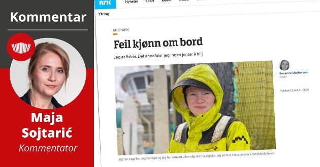 IKKE DEN FØRSTE: Susanne Mortensen er dessverre ikke den første kvinnen til å varsle om kjønnsdiskriminering og alvorlig trakassering i fiskerinæringa.