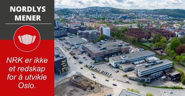 NRK vil flytte sitt hovedkontor lenger sørøst i Oslo, fra Marienlyst til Ensjø (bildet).