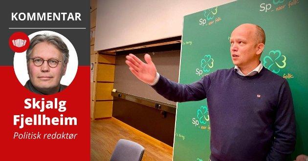Sp-leder Trygve Slagsvold Vedum lanserte tirsdag partiets Nord-Norge-program på UiT Norges arktiske universitet.