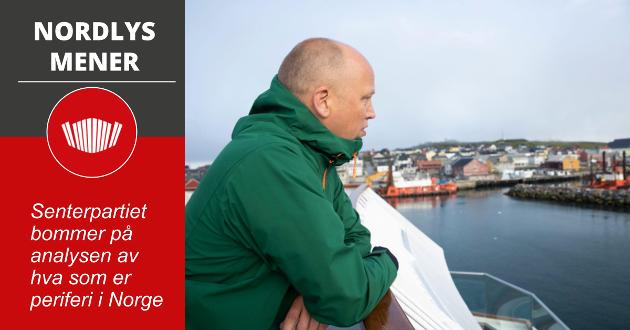 Partiet forstår åpenbart ikke at byene i spredtbygde Nord-Norge – også Bodø og Tromsø – er en del av periferien, skriver Nordlys på lederplass.