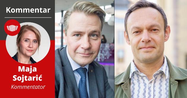 DUELANTER: Lenge så det ut som om kampen om mandatene fra Troms ville stå mellom Per-Willy Amundsen (FrP) eller Torgeir Knag Fylkesnes (SV) i år. Begge ser ut til å få direktemandat i følge vår meningsmåling - på bekostning av Arbeiderpartiet.