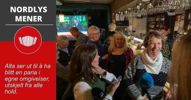 Stor glede på valgvaken til Pasientfokus i Alta, da Irene Ojala sikret stortingsplassen.