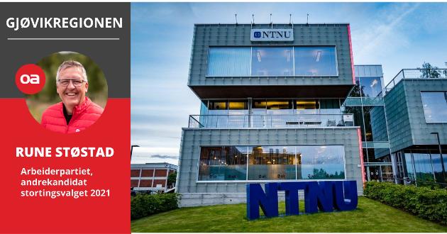 SENTRAL: - Raufoss og Gjøvik må få en enda mer sentral plass i nasjonal nærings- og arbeidslivspolitikk, skriver Rune Støstad (Ap).