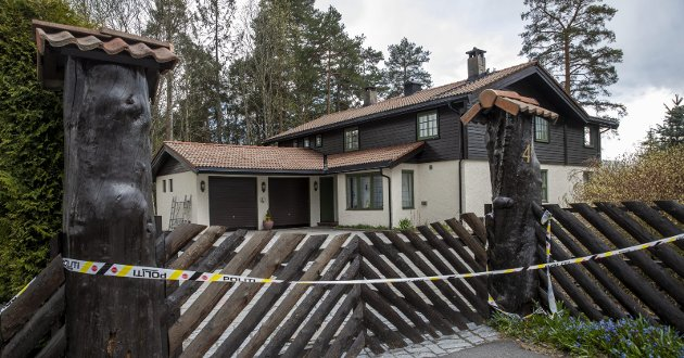 ÅSTED: Politiet mener Hagen-familiens hjem, Sloraveien 4 på Fjellhamar, er et drapsåsted der Anne Elisabeth Hagen ble tatt av dage. FOTO: NTB