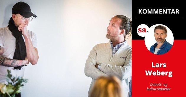 Martin Kristiansen (til venstre) og Jørgen Andersen i Viken Events AS har lagt Byfestivalen til 26. og 27. august 2022, helgen før Sarpsborgfestivalen skal holdes.