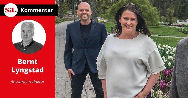 Sindre Martinsen-Evje tar ikke gjenvalg i kommunestyrevalget i 2023. Vi tror at Therese Thorbjørnsen kan bli aktuell som Aps kommende ordførerkandidat.