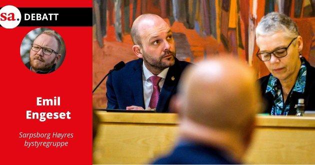 Reagerer: Emil Engeset i Høyre reagerer på at ordfører Sindre Martinsen-Evje avlyser alle fysiske folkemøter fram til 16. september.