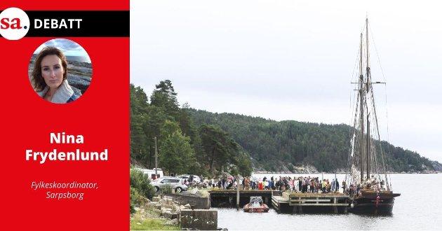 Plan: Fylkeskoordinator Nina Frydenlund skriver i dette innlegget at man trenger en helhetlig  plan for Oslofjorden. Her ser vi skuta S/Y Valentine ved Høysand i 2020, med formål om å skape engasjement rundt naturen og havet.