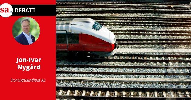 Jon-Ivar Nygård ser det som realistisk å fortsette utbyggingen av jernbanen gjennom Østfold fra 2026 og utover.