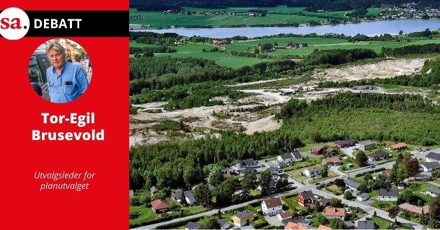 BOLIGOMRÅDE: En gang i framtiden ser kommunen for seg at Vistergropa blir et boligområde.