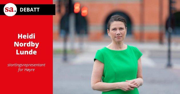 Sekstimersdagen gir mindre velferd, ikke mer, påpeker stortingsrepresentant Heidi Nordby Lunde (H) i dette innlegget. (Foto: Hans Kristian Thorbjørnsen)