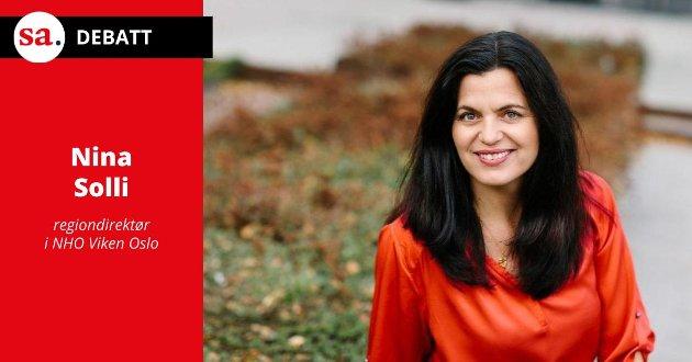 Nina Solli, regiondirektør i NHO Viken Oslo. (Foto: Moment Studio)