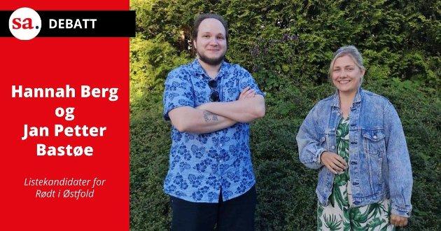 Hovedansvaret for opprettelsen av Viken ligger hos Høyre, skriver Rødt-politikerne Jan Petter Bastøe og Hannah Berg som svar på innlegget Høyre-duoen Ingjerd Schou og Monica Carmen Gåsvatn hadde i SA 5. august. (Foto: Privat)