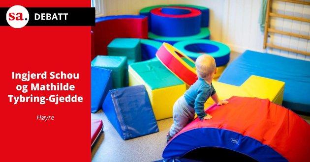 Det er ikke profitt som driver de fleste barnehageeiere–det er et bankende hjerte for barn og barnehagedrift, skrives det i dette innlegget fra Ingjerd Schou og Mathilde Tybring-Gjedde. Illustrasjonsfoto.